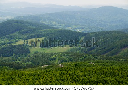 View from the Czech Je�¡t?dMountain - stock photo