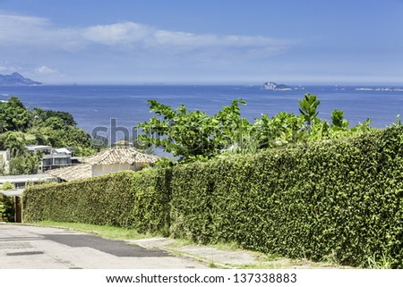 View from the hill in Rio de Janeiro, Brazil - stock photo