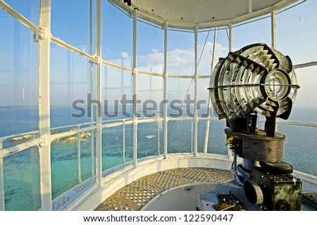View from the lighthouse - stock photo