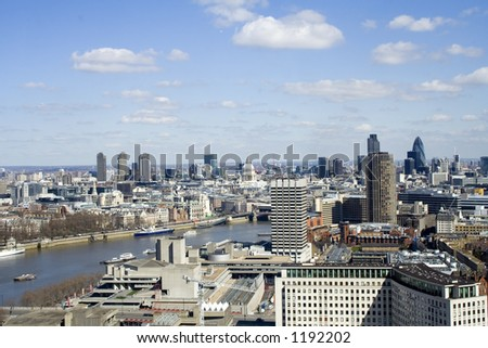 View from the london eye (day time) - stock photo