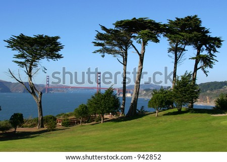View from the Presidio Golf Court - stock photo