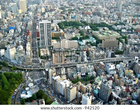 View from Tokyo Tower, Japan. - stock photo