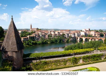 View from Toulouse-Lautrec museum, Albi, France - stock photo