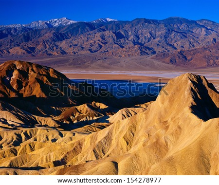 View from Zabriskie Point, Death Valley National Park, California. - stock photo
