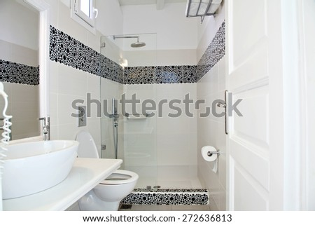 View of a bathroom - stock photo