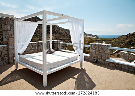 View of a hotel - stock photo