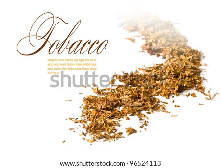 view of a mound of pipe tobacco. - stock photo