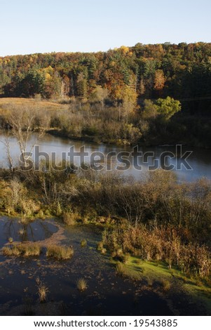 View of a park in Northwestern Michigan - stock photo