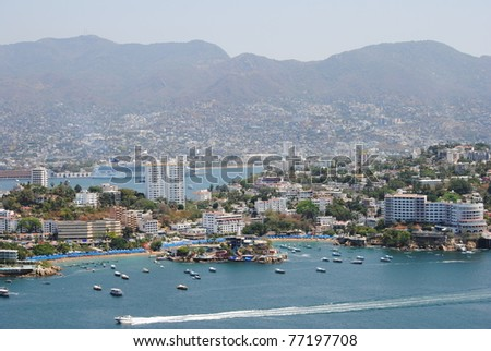 View of Acapulco, Mexico - stock photo