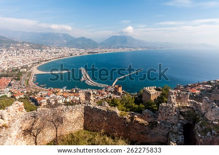 View of Alanya - stock photo