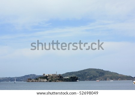 View of Alcatraz Island - stock photo