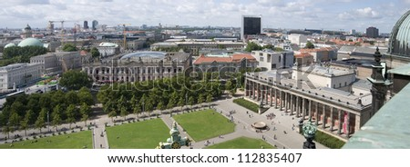 View of Altes Museum (Old Museum) situated on Museum Island, Berlin, Germany. This place has been named a UNESCO World Heritage Site - stock photo