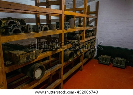 View of an ammunition warehouse situated inside of the o hara battery on gibraltar - stock photo