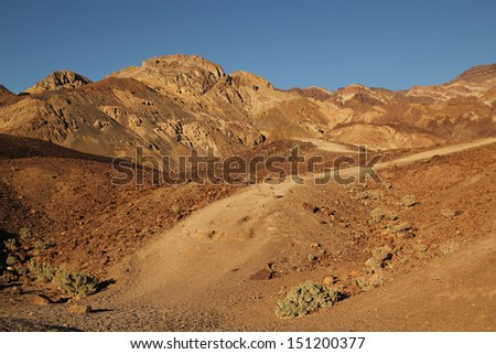 View of artist's palette at Death Valley national park in United States - stock photo