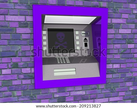 View of ATM - stock photo