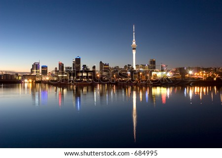 View of Auckland City - stock photo