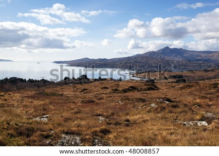 view of Bantry Bay from picnic area near Glengarriff,West Cork, Ireland - stock photo