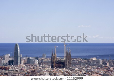 View of Barcelona3 - stock photo