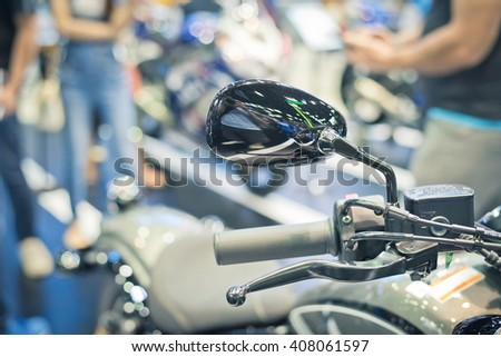 View of beautiful motorcycles - stock photo