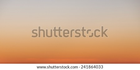 View of beautiful rising sun with orange mist for cloudscape nature background - stock photo