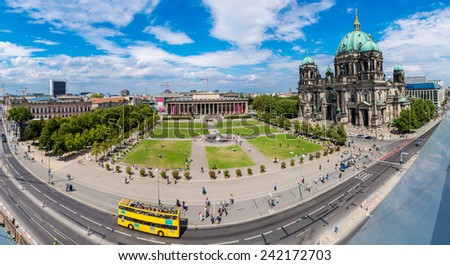 View of Berlin Cathedral in Berlin in beautiful summer day - stock photo