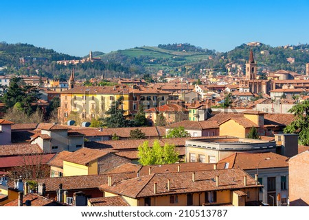 View of Bologna rooftops. Emilia-Romagna, Italy, Europe - stock photo