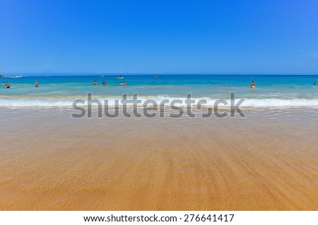View of Bondi Beach in summer - stock photo
