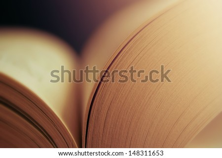 View of book pages - stock photo