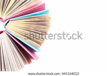 View of book pages. Thousand Page Book Background. Education background. - stock photo