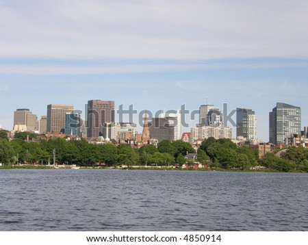View of Boston City - stock photo