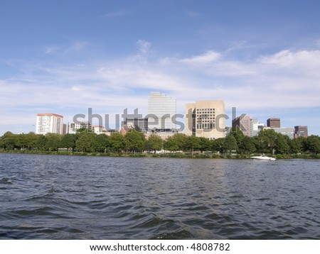 View of Boston's Skyline (USA) - stock photo