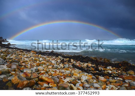 View of Cape of Good Hope South Africa - stock photo