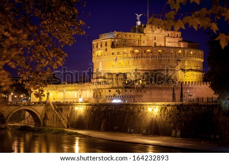 View of Castel Sant'Angelo, Rome. - stock photo