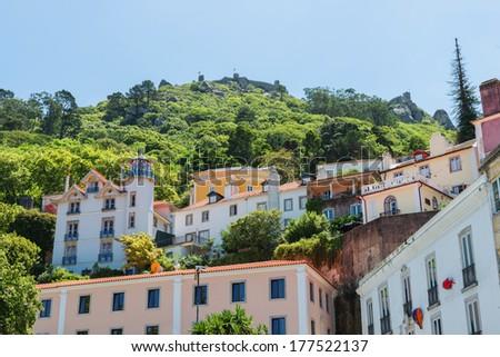 View of Castelo dos Mouros, Sintra, Portugal  - stock photo