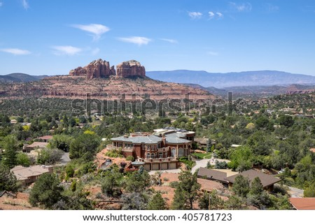 View of Cathedral Rock in Sedona Arizona - stock photo