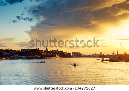View of central part of Stockholm,Sweden - stock photo