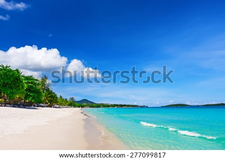 View of Chaweng beach, Koh Samui (Samui Island), Thailand - stock photo