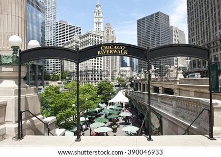 View of Chicago Waterfront - stock photo