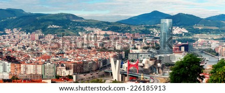 View of city Bilbao, Spain - stock photo