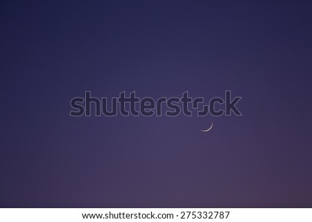View of clear night sky with moon as background - stock photo