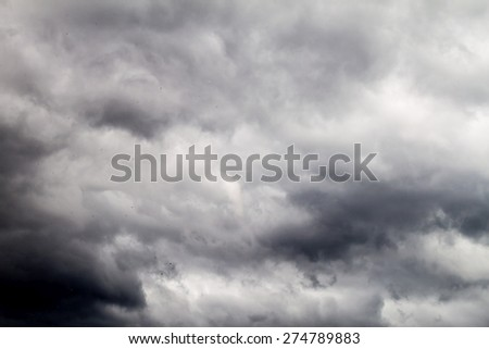 View of clouds on a sky - stock photo