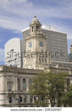 View of Des Moines skyline, capital of Iowa - stock photo