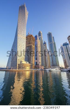 View of Dubai marina, UAE - stock photo