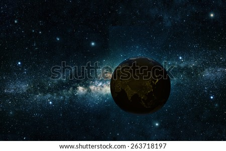 view of earth from space Elements of this image furnished by NASA - stock photo