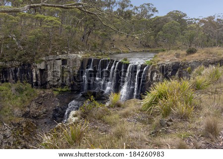 View of Ebor Falls, NSW, Australia - stock photo