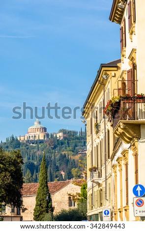 View of Forte San Leonardo in Verona - stock photo