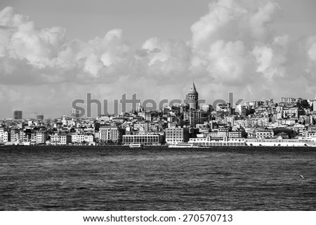 View of Galata district , Istanbul, Turkey - stock photo