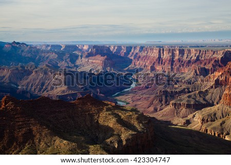 View of Grand Canyon from the South Rim - stock photo