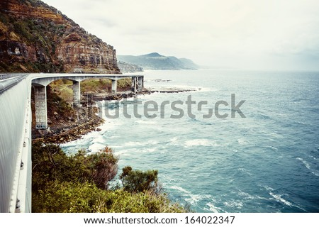 View of Grand pacific drive near Sydney, Australia - stock photo
