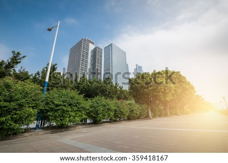 view of guangzhou residential buildings - stock photo